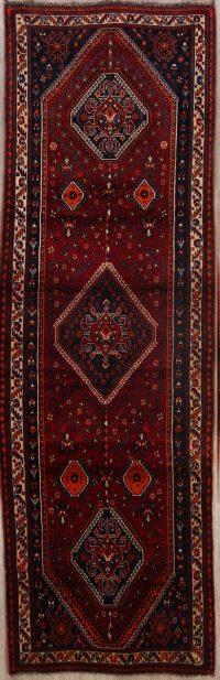 Geometric Tribal  Abadeh Persian 3'x9' Runner Rug