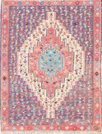 Geometric Tribal 4x5 Kilim Senneh Bidjar Persian Area Rug