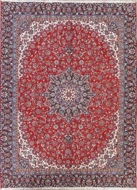 Red Floral Kashan Persian 9x12 Area Rug