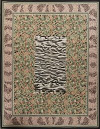 Transitional Animal Print Aubusson Oriental Hand-Woven Area Rug 12x15