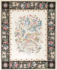 Floral Modern Chinese Oriental Hand-Woven Area Rug Wool 8x10
