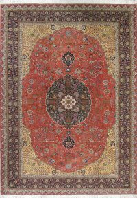 Vegetable Dye Palace Sized Tabriz Persian Hand-Knotted 12x16 Kork/Wool Rug