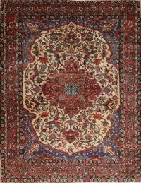Antique Vegetable Dye Bakhtiari Saman Persian Hand-Knotted 11x15 Area Rug