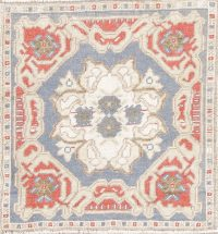 Oushak Turkish Oriental Hand-Knotted 2x2 Square Wool Rug