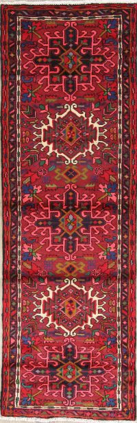 One of a Kind Tribal Gharajeh Persian Hand-Knotted 2x7 Wool Runner Rug