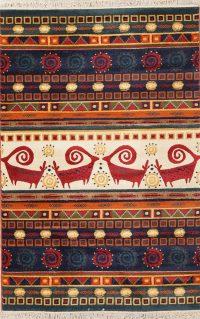 Tribal Animal Print Moroccan Turkish Oriental Area Rug