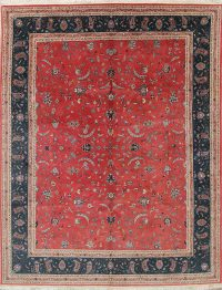 All Over Rust Red Floral Peshawar Oriental Hand-Knotted 8x10 Wool Area Rug