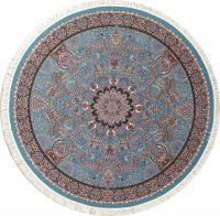 Blue Floral Hereke Turkish Oriental 8x8 Round Area Rug