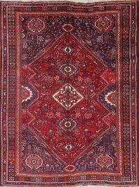 Tribal Red Geometric Kashkoli Persian Hand-Knotted 7x10 Wool Area Rug