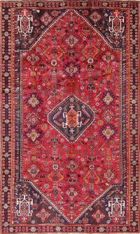 One-of-a-Kind Tribal Geometric Abadeh Persian Hand-Knotted 5x8 Wool Area Rug