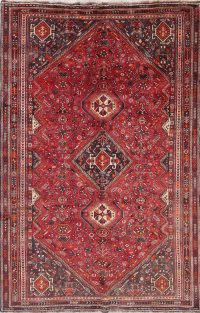 One-of-a-Kind Tribal Geometric Lori Persian Hand-Knotted 6x9 Wool Area Rug