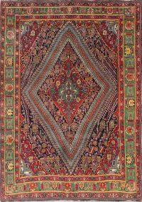 One of a Kind Vegetable Dye Tribal Kashkoli Persian Handmade 7x10 Wool Area Rug