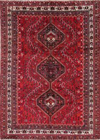 One-of-a-Kind Tribal Geometric Lori Persian Hand-Knotted 7x10 Wool Area Rug
