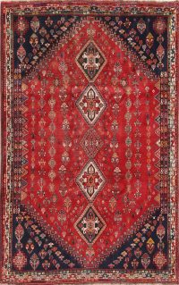 One-of-a-Kind Tribal Abadeh Nafar Persian Hand-Knotted 6x10 Wool Area Rug