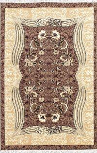 Brown Floral Modern Turkish Oriental 5x7 Area Rug