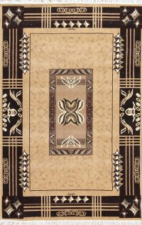 Light Brown Geometric Modern Turkish Oriental 5x7 Area Rug