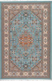 Floral Teal Blue Kilim Shiraz Turkish Oriental 5x7 Area Rug