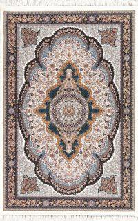 Floral Hereke Turkish Oriental 5x7 Area Rug