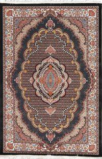 Floral Black Hereke Turkish Oriental 5x7 Area Rug