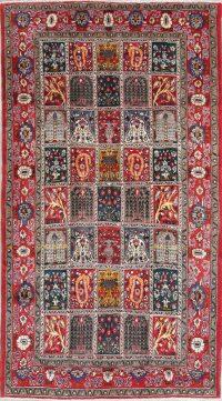 Garden Design Geometric Bakhtiari Persian Hand-Knotted 5x9 Wool Area Rug