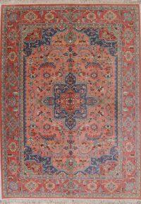 Tribal Geometric Watermelon Pink Karastan Oriental 9x12 Wool Area Rug