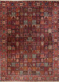 Vegetable Dye Antique Garden Design Bakhtiari Persian Handmade 12x17 Wool Rug