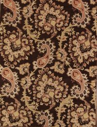 Paisley Floral Hand-Tufted Brown Oriental 9x12 Area Rug