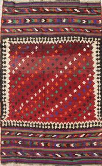 Geometric Kilim Shiraz Persian Hand-Woven 6x9 Wool Area Rug