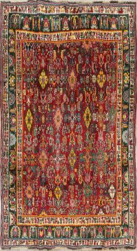 Vegetable Dye Kashkoli Persian Hand-Knotted 5x8 Wool Area Rug