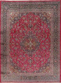 Traditional Floral Kashmar Persian Hand-Knotted 10x13 Wool Area Rug