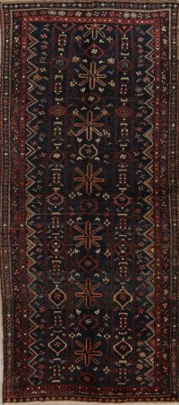Pre-1900 Antique Bidjar Persian Hand-knotted 5x11 Wool Runner Rug