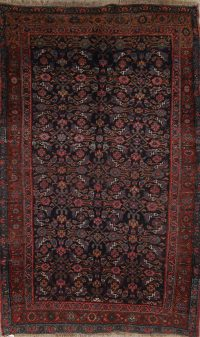 Pre-1900 Antique Bidjar Persian Hand-knotted 5x7 Wool Area Rug