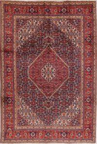 Geometric Tabriz Persian Hand-Knotted 7x10 Wool Area Rug