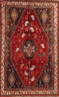 Tribal Geometric Kashkoli Persian Hand-Knotted 5x8 Wool Area Rug