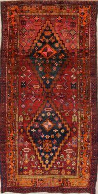 Geometric Heriz Persian Hand-Knotted 6x9 Wool Runner Rug