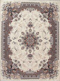 Floral Ivory Oushak Turkish Oriental 7x10 Area Rug