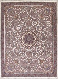 Floral Ivory Tabriz Turkish Oriental 10x13 Wool Acrylic Area Rug