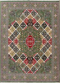 Geometric Green Oushak Turkish Oriental 10x13 Acrylic Wool Area Rug