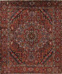 Vegetable Dye Antique Bakhtiari Persian Handmade 11x12 Wool Area Rug