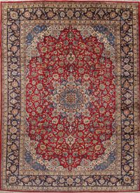 Traditional Floral Najafabad Persian Hand-Knotted 9x13 Wool Area Rug