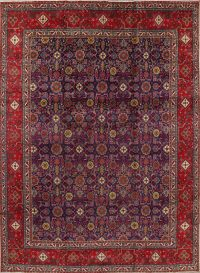 Geometric Tabriz Persian Hand-Knotted 10x13 Wool Area Rug