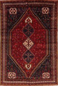 Geometric Ghashghaei Persian Hand-Knotted 7x10 Wool Area Rug