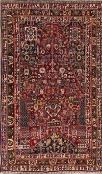 Tribal Geometric Kashkoli Shiraz Persian Hand-Knotted 5x8 Wool Area Rug