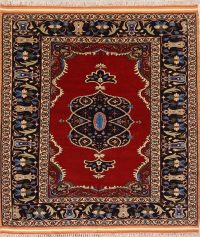 Wool & Silk Masterpiece Dorokhsh Persian Area Rug 5x5
