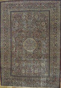 Pre-1900 Antique 9x12 Dorokhsh Persian Area Rug