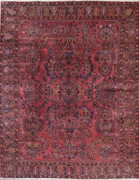 Vegetable Dye Antique Sarouk Mohajeran Handmade 9x11 Wool Area Rug