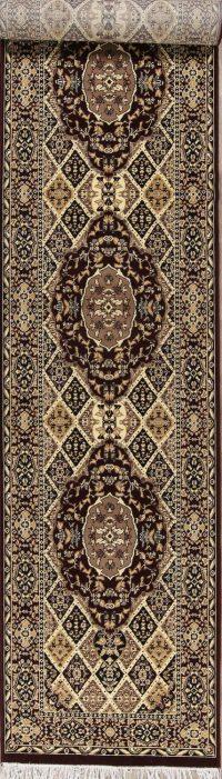 Geometric Oushak Turkish Oriental Runner Rug