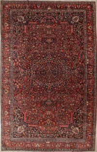 Pre-1900 Vegetable Dye Bakhtiari Persian Hand-Knotted 11x18 Wool Rug