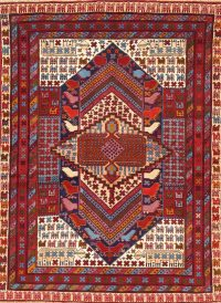 Tribal Bokhara Pakistan Oriental Hand-Knotted 4x6 Wool Silk Area Rug