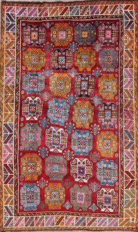 Geometric Gabbeh Kashkoli Persian Hand-Knotted 5x8 Wool Area Rug
